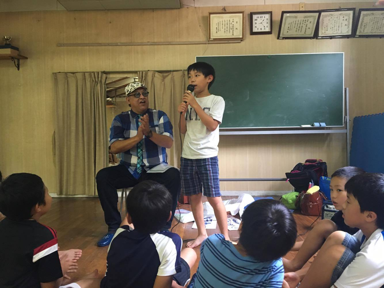 ナツイエ(2016)6日目 水遊びと英語でクラフトワークの日
