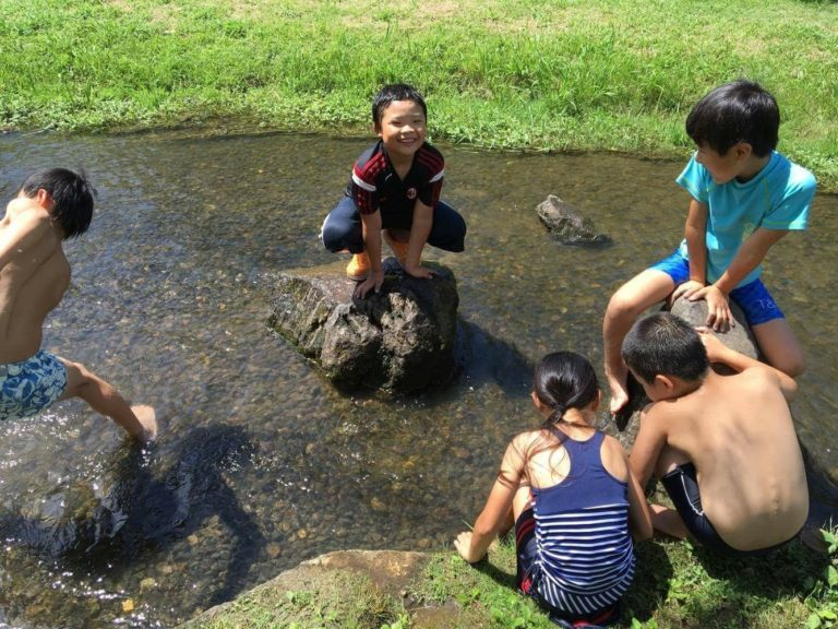 ナツイエ2016(2日目) 絞染めワークショップ(Tシャツ編)と水遊びの日