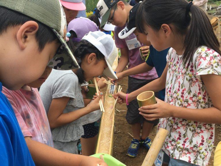 2017ナツイエDay8 竹の器づくり&流しそうめん
